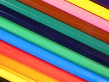 Background from colourful crayons Royalty Free Stock Image