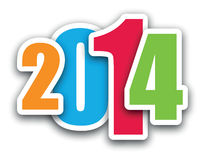 2014 background. A colourful 2014 background image Royalty Free Stock Photography