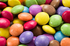 Background of colourful smarties Stock Images