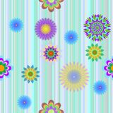Background with colours flowers. Background of a cell with colours flowers Stock Images
