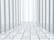 Background with columns and a tiled floor Stock Image