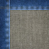 Background combined denim close-up Stock Photo
