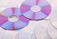 Background from the compact discs of CD royalty free stock photos