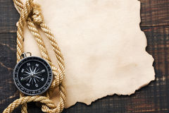 Background with compass Royalty Free Stock Image