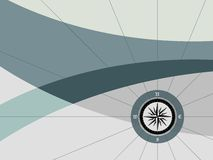 Background with compass. Abstract color background with compass Stock Photo