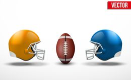 Background of competition in American football teams. Background of competition teams in American Football. Vector illustration stock illustration