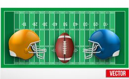 Background of competition in American football tea. Background of competition teams in American Football. Vector illustration stock illustration