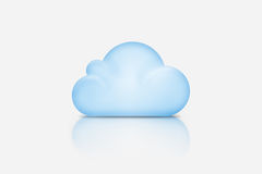 Background composed of blue cloud over gray Royalty Free Stock Photo