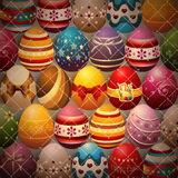 Background Composed of Easter Eggs Stock Images
