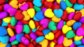 Background composed of many colorful hearts Royalty Free Stock Photos