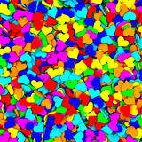 Background composed of many colorful hearts Royalty Free Stock Image