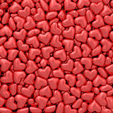 Background composed of many small red hearts Royalty Free Stock Photo
