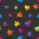 Background composed of puzzle pieces Stock Photo