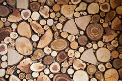 The background is composed of texture sections of different wood. royalty free stock photos