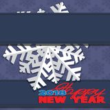 Background composed of winter snowflakes. Royalty Free Stock Photography