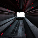 Background or composing image. Inside a futuristic scifi spaceship royalty free stock image