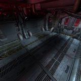 Background or composing image inside a futuristic. Scifi spaceship Stock Images