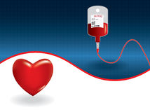 Background of concept of blood donation Stock Image
