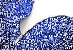 Background concept wordcloud of human rights Stock Photo