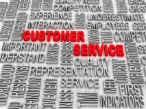 Background concept wordcloud illustration of customer service Stock Photos