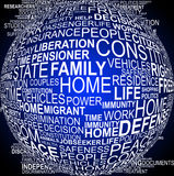 Background concept wordcloud illustration of human rights Royalty Free Stock Photo