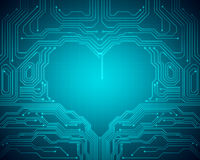 Background conceptual image of digital heart symbol Royalty Free Stock Photos