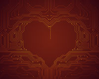 Background conceptual image of digital heart symbol Stock Images