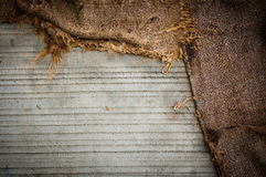Background of concrete and fabric Stock Photos