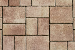 Background of a concrete pavement with tiles Stock Photos