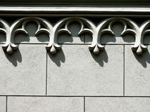 Background of a concrete Wall decorated with arch cornice copy space. Horizontal royalty free stock photography