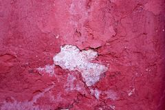 Background Of Concrete Wall With Obsolete Paint. Abstract Texture Background Of Concrete Wall With Obsolete Paint Red Color Stock Photo