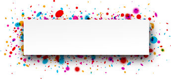 Background with confetti. Royalty Free Stock Photo