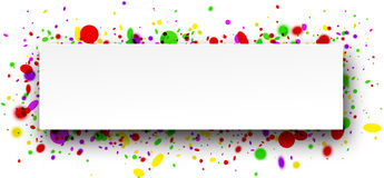 Background with confetti. Royalty Free Stock Photos