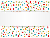 Background with Confetti. Confetti background with place for your text Royalty Free Stock Photos