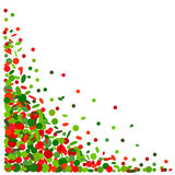 Background with confetti in red and green Royalty Free Stock Photo