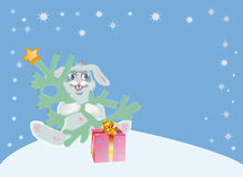 Background for congratulating on Christmas Royalty Free Stock Photo