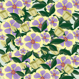 Background consisting of beautiful flowers. Bright vector background consisting of beautiful flowers royalty free illustration