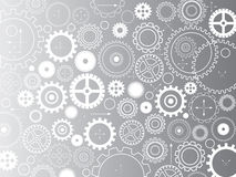 Background consisting of gears and arrows Royalty Free Stock Photo