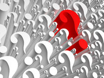 Background consisting of question marks Stock Photo