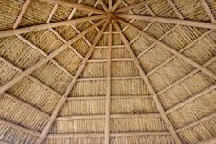 Tiki Thatch Background. A background consisting of a tiki thatch roof design royalty free stock images