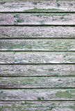 Background consisting of weathered green grey boards Stock Photos