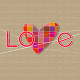 Background consisting of the word love Stock Images
