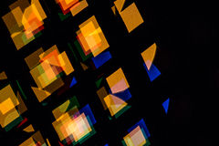 Background consists of colored rectangular bokeh Stock Photo