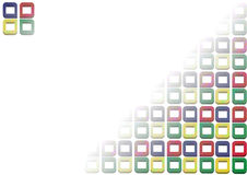 Background consists from cubes Royalty Free Stock Images