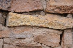 Masonry wall large die. The background consists of a masonry wall with a large die stock photography