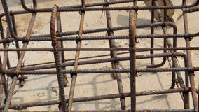 Background rust steel texture material zoom in full frame Royalty Free Stock Photos