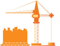 Construction crane and city landscape Stock Photography