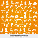 Background construction icons Stock Photography