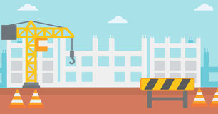 Background of construction site. Royalty Free Stock Photo