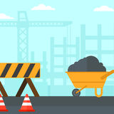 Background of construction site. Royalty Free Stock Images